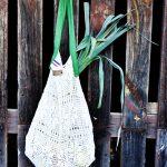 sac crochet vert